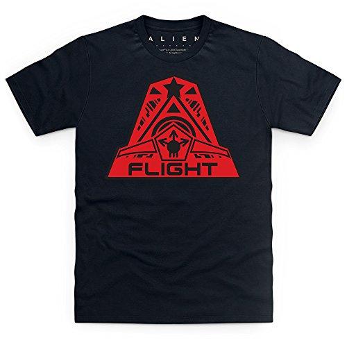 Official Alien: Covenant Crew Flight Logo T-Shirt, Herren Schwarz