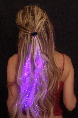 Innotechcity aufleuchten Faser Optisch LED Haar Lichter (14