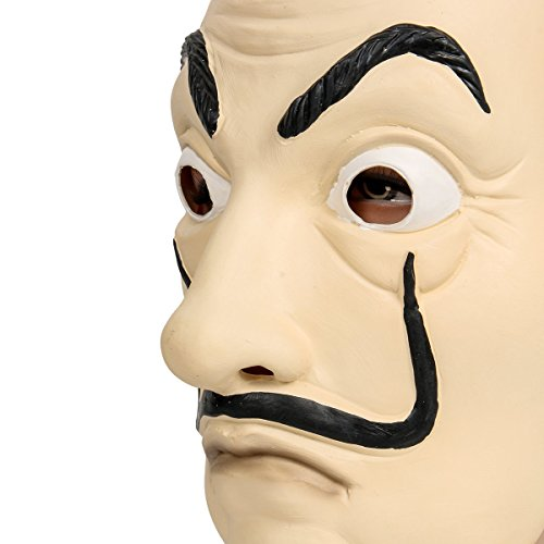 confronta il prezzo Salvador Face Mask Latex Mask LCDP Realistic Movie Prop Face Mask Beard Mask miglior prezzo