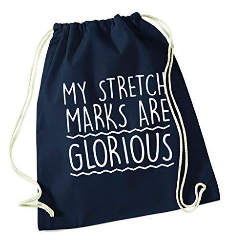 Flox Creative Kordelzugtasche mit Stretchstreifen Glorious, Navy