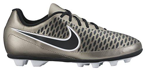 Nike Jr Magista Ola Fg-r, Chaussures de Sport Fille, UK Dorado / Noir / Verde / Blanco (Mtlc Pewter / Blk-Ghst Grn-White)