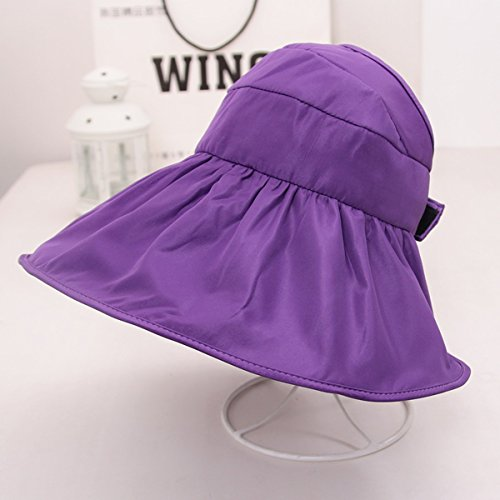 ssby Frau Sommer Sonnenschutz Hat Sun Hat Outdoor-Reise Zusammenklappbar Sun Hat Hat Hat UV-Damen, B