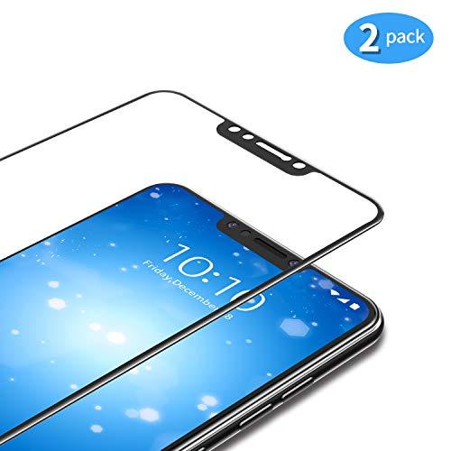 TAMOWA [2 Stück] für Panzerglas für Xiaomi Pocophone F1, Full Screen Panzerglasfolie 9H Härte für Panzerglas Schutzfolie, Hohe Transparenz, Anti-Kratzen, Anti-Öl, Anti-Bläschen (Schwarz)