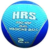 E Relax HRS Pro Grip Dual Color Medicine Ball with Bounce Effect 2 KG (Color May Vary)