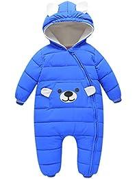 5af6fcc1457d Bebone Baby Girls Boys Cartoon Hooded Winter Snowsuit(Blue