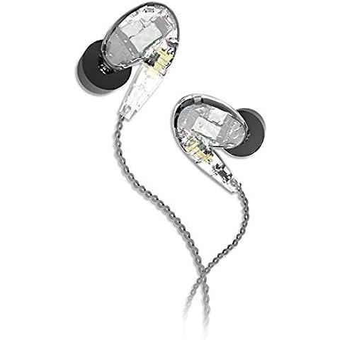GranVela ® TK-T100 Balanced Cuffie auricolari In-Ear con isolamento acustico, Universal Fit