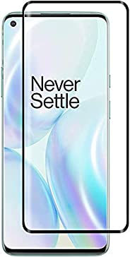 Al-HuTrusHi Oneplus 8 Screen Protector,[Full Glue][3D Full Coverage][9H Hardness] [Scratch Resistant] Tempered