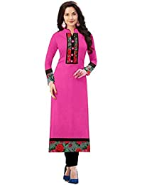 New Designer Baby Pink Color Indo Cotton Office Wear/ Casual/ Formal/m Regular Wear/ Semi-sttiched Kurti By Omstar...