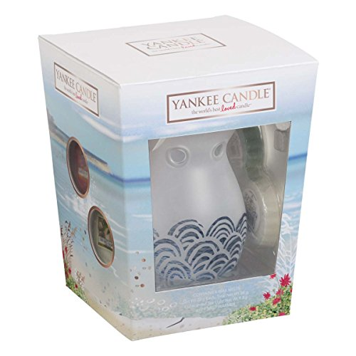 yankee candle riscaldatore di essenze & 3 set regalo cera, multicolore