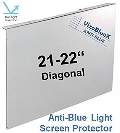 21 - 22 Zoll VizoBlueX Blaulichtfilter für Computermonitor.Anti-Blaulicht Computer Monitor Bildschirmschutz-Panel (52,0 x 30,5 cm). Für TV, LCD Fernseher und PC,Mac.Das ist nicht Schutzfolie 21.5