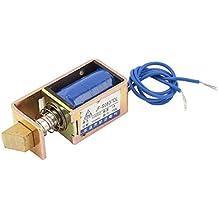 Sourcingmap a13032700ux0594 - Dc 12v tipo vigor 15n 1a carrera de 10mm marco abierto solenoide para cerradura eléctrica