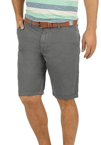 Blend Clemens Herren Chino Shorts Bermuda Kurze Hose Mit Gürtel aus 100% Baumwolle Regular Fit, Größe:XL, Farbe:Granite (70147)