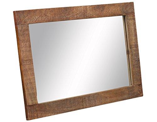 The Wood Times Vintage Wandspiegel Massivholz-Rahmen New Rustic Mangoholz, BxHxT 90x60x3 cm