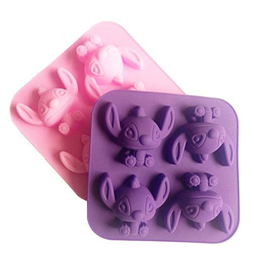 NiceButyCartoon Stitch geformt Silikon Backform Schokolade Soap Mold Zuckerfertigkeit DIY Tool