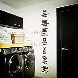 Autocollant mural en vinyle pour boutique de linge - Décoration murale