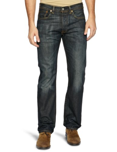 Levi's Herren Jeanshosen Original Straight Fit Schwarz (Dusty Black 0039)