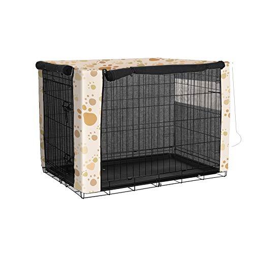 TUYU 1910FCZ0115Y05 Hundekäfig-Abdeckung, Winddicht, staubdicht, Polyester für Drahtkäfige, für Innen- und Außenbereich