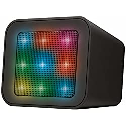 Trust Urban Dixxo Cube - Altavoz Bluetooth con espectáculo de luces integrado, color negro