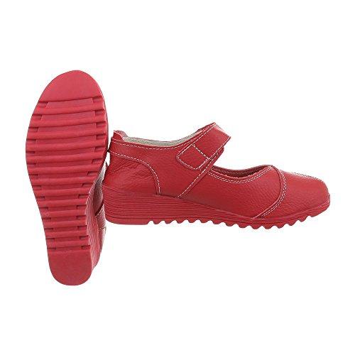 Scarpe da donna Scarpe col tacco zeppa Zeppa Ital-Design rosso 8011