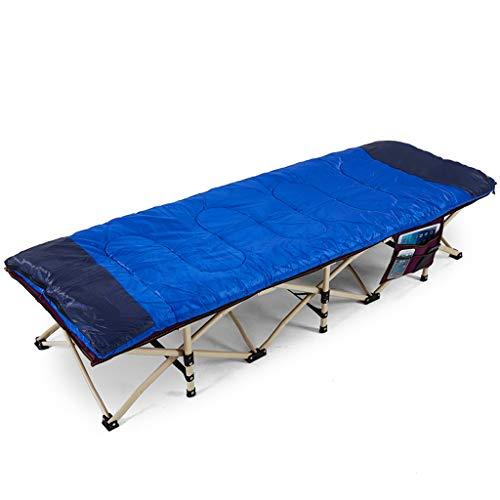 YXQ Vier Jahreszeiten Klappbett - Einzelbett, Nickerchenbett, 400 kg Belastung, Campingbett (190 cm) (Farbe : Red) -