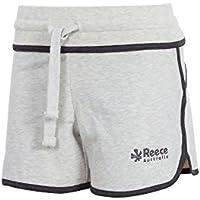 Reece Kate Sweat–Pantalones cortos de hockey Mujer Color Blanco jaspeado, color weiß-melange, tamaño L (38/40)