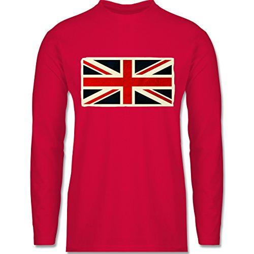 Shirtracer Länder - Flagge Großbritannien - Herren Langarmshirt Rot