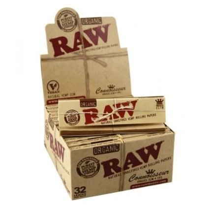 Raw Rolling Paper + Tips - Organic Connoisseur Full Box of 24 Booklets