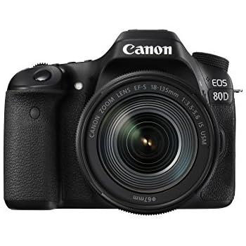 Canon EOS 80d 24.2Megapixel Digital SLR Camera with EF-S 18–135 mm IS STM Lens - Black/Anthracite