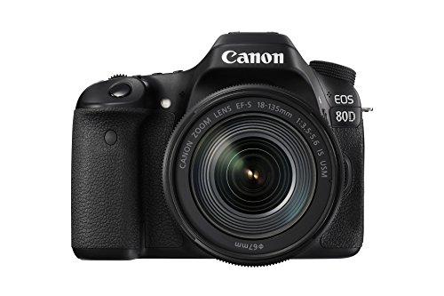 dslr mit wlan Canon EOS 80D SLR-Digitalkamera (24,2 Megapixel, 7,7 cm (3,0 Zoll) Display, Full HD, NFC und WLAN) schwarz