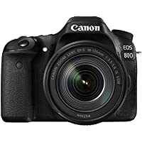 Canon EOS 80D SLR-Digitalkamera (24,2 MP, 7,7cm (3 Zoll) Display, Full HD, NFC und WLAN) schwarz