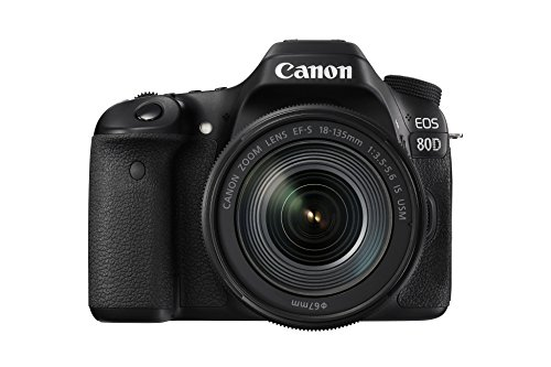 *Canon EOS 80D SLR-Digitalkamera (24,2 Megapixel, 7,7 cm (3,0 Zoll) Display, Full HD, NFC und WLAN) schwarz*