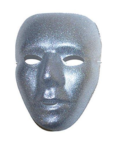 Karnevalsbud - Karneval, Motto-Party Voll-Gesichtsmake, Glitter Venezianischer Stil, Silber