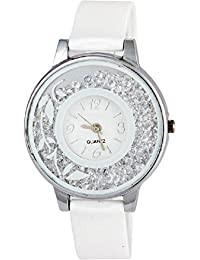 SPINOZA KNK-143L74 Beautiful Flower Desing On Glass Atractive And Fancy Watch For Girls