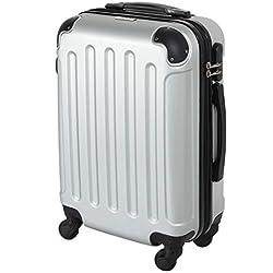 CABIN GO MAX 5571 - Trolley rigide en ABS, grosse valise à roulettes, 55 cm, utilisable comme bagage à main de dimensions standard