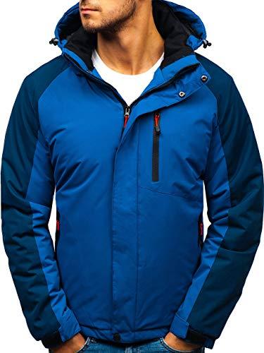 BOLF Herren Winterjacke Steppjacke Sportjacke Reißverschluss Casual Style RED Fireball HZ8102 Blau M [4D4] | 05902646958040
