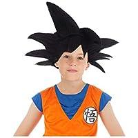 Generique - Peluca Negra Goku Saiyajin Dragon Ball Z niño