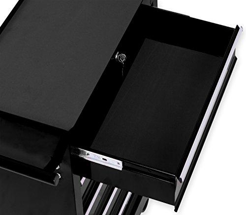 Masko® Werkstattwagen - 5 Schubladen, schwarz ✓ Abschließbar ✓ Massives Metall | Mobiler Werkzeug-Wagen ohne Werkzeug | Profi Werkstatt-Wagen | Rollwagen zur Werkzeugaufbewahrung mit Schloss | - 3