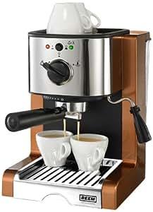 BEEM Espresso Perfect Crema, Espresso-Siebträgermaschine mit 15 Bar, Copper-Style