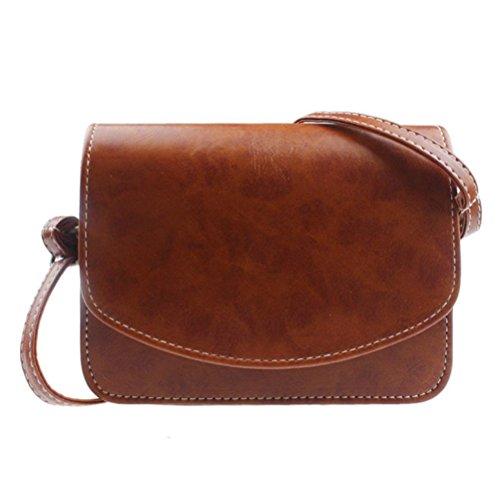 Damen Handtasche Sattel (Honeymall Umhängetasche Imitation cuir Retro klein Damen asche Sattel Tasche Handtasche Clutch Schultertasche Shoulder Bag(Khaki))