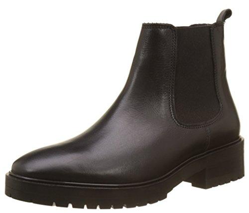 Buffalo London Damen ES 30983 Impulse Chelsea Boots, Schwarz (Preto 01), 38 EU (Leder Buffalo)