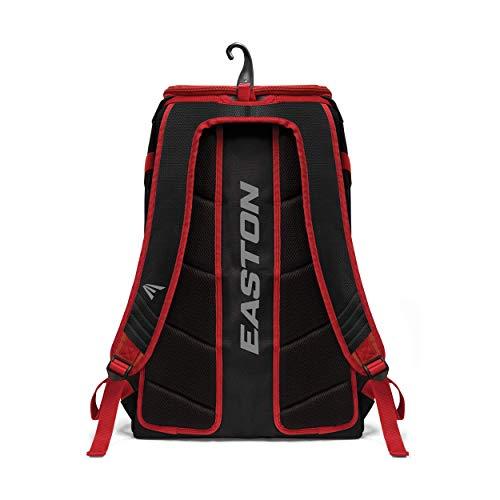 Easton Elite X Bat & Equipment Backpack Bag   Baseball Softball   2020   Maroon   2 Bat Sleeves   Vented Shoe & Equipment Compartments   Valuables Pocket   Water Bottle Sleeve   Fence Hook