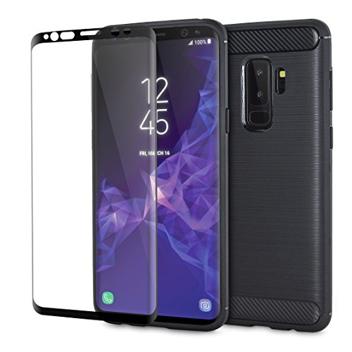 c6c6154becb Samsung Galaxy S9 Plus – Funda con Protector de Pantalla – Olixar Sentinel  – Vidrio Templado