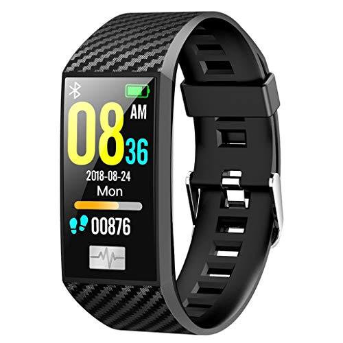 Smartwatch mit Wasserdicht für Damen Herren mit Kamera Uhr DT58 Bluetooth EKG Herzfrequenz Blutdruckmessgerät Uhr Sport Smart Watch Schrittzähler Armbanduhr Schlafmonitor Uhr für Android iOS (Schwarz)