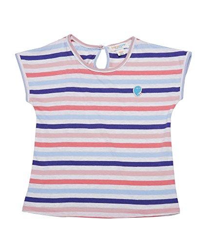 Oceankids Kleiner Mädchen Baumwoll T-Shirt mitBlau & Orange Streifen 24M 2 Jahre (Air Kleinkinder Force T-shirt)