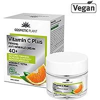 PREMIUM Vitamin C Plus 40+ Crema Facial con Vitamina C Tetra, Crema Antiarrugas de Día y Noche, Crema Reafirmante.