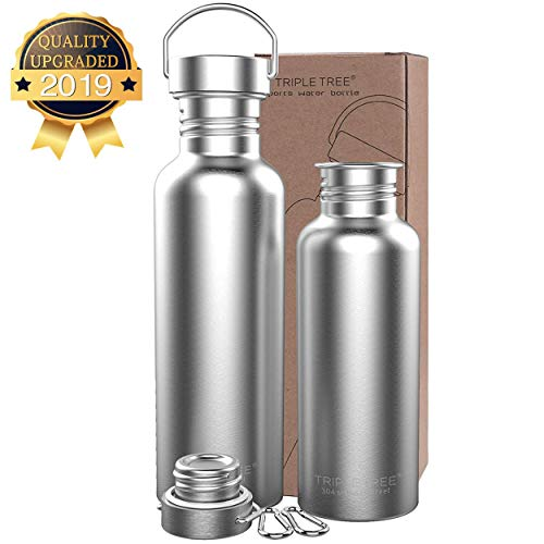 Trinkflasche Edelstahl 500ml 700ml 1l BPA Freie,Vakuumisolierte Metall Wasserflasche für Outdoor, Büro, Camping, Sports (500ml)