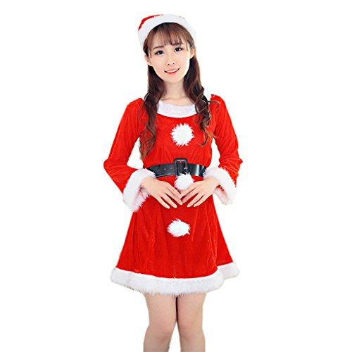 Weihnachtskostüm Weihnachtsfrauen WeihnachtskleidFrauenkleidung ❀❀ JYJMFrauen Sexy Santa Weihnachten Kostüm Phantasie Kleid Weihnachten Büro Party Outfit (Freie Größe, (Mini Santa Kleid Kostüme)