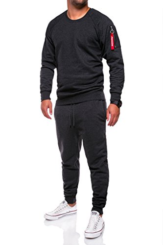 MT Styles Trainingsanzug Zip Jogginganzug Camouflage Sportanzug TA-02 Dunkelgrau