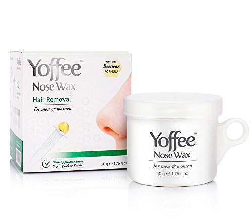 Simon & Tom Yoffee Nose Wax 50g Nasal Hair Removal with Natural Beeswax Formula. Safe ✔ Quick ✔ and Painless ✔ 10 Applicator Sticks ✔