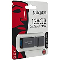 Kingston DT100G3/128GB DataTraveler 100 G3 - Memoria USB de 128 GB, USB 3.0 Color Negro
